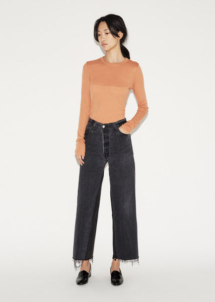 RE/DONE Wide Leg Crop Jean La Garconne