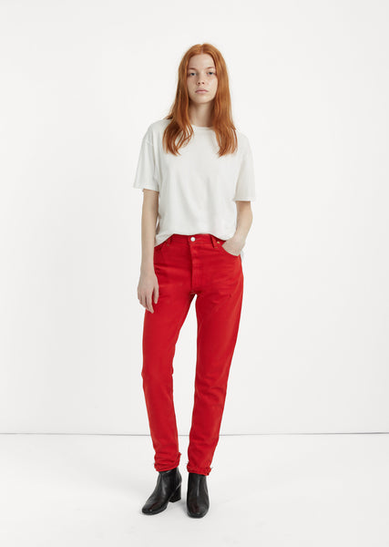 Levi's High Rise Red Jean