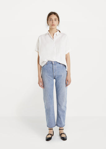 X Levi's Ultra High Rise Straight Leg Jean