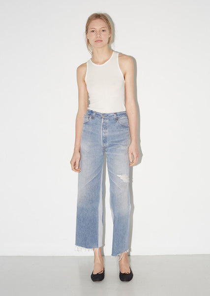 RE/DONE High Rise Wide Leg Crop La Garconne