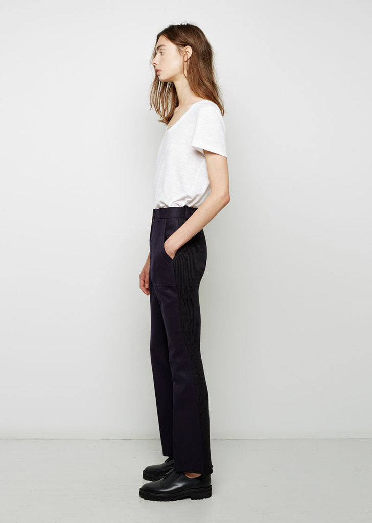 Knit Back Wool Trouser