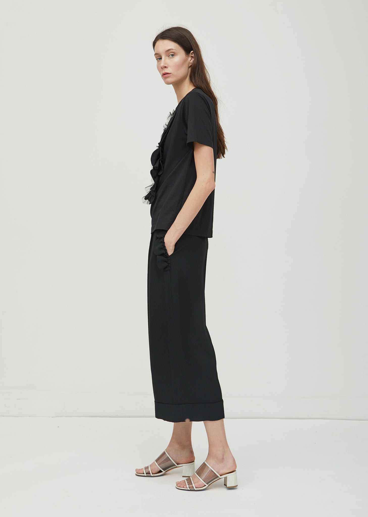 Scallop Frill Wide Trousers