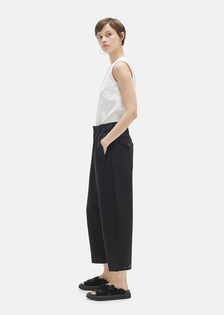 Straight Heavy Jersey Trousers