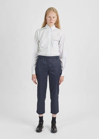 Straight-Leg Cotton Trouser