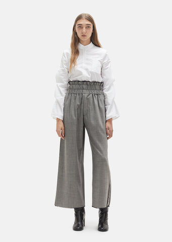 Elasticated Waist Frayed Hem Trousers