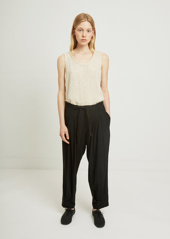 Chine Front Two Tuck Pant