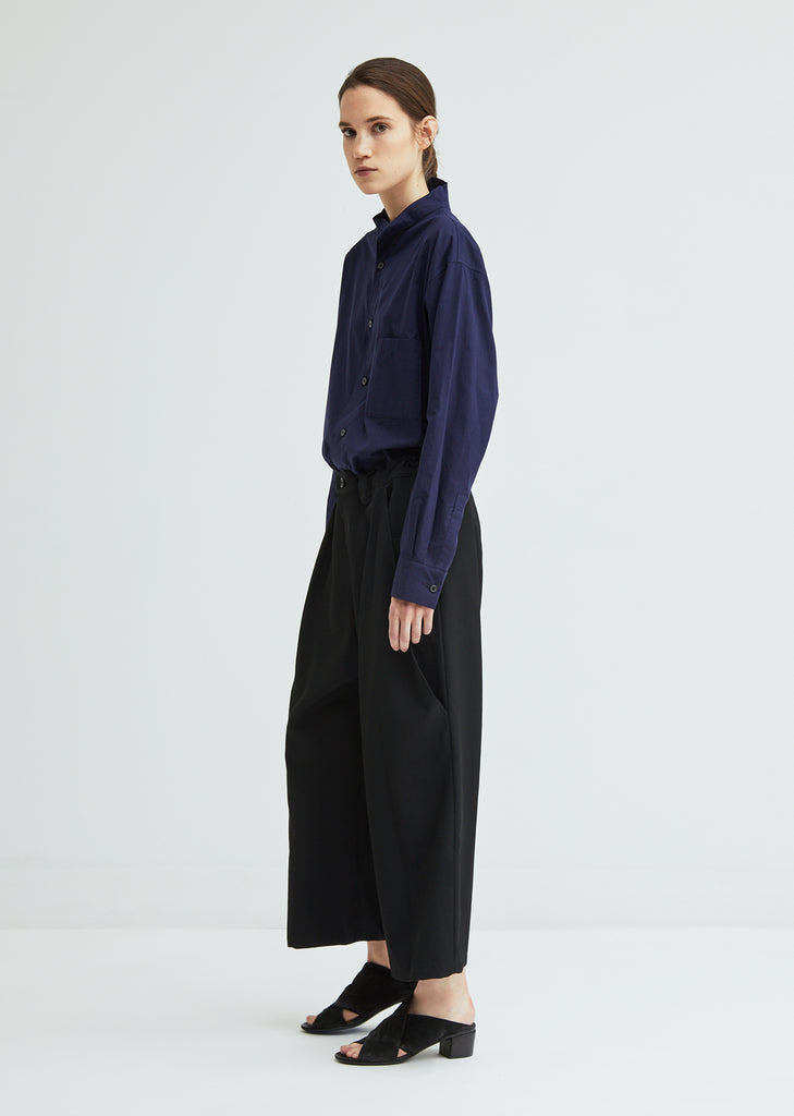Big Pocket Wool Garbardine Pant