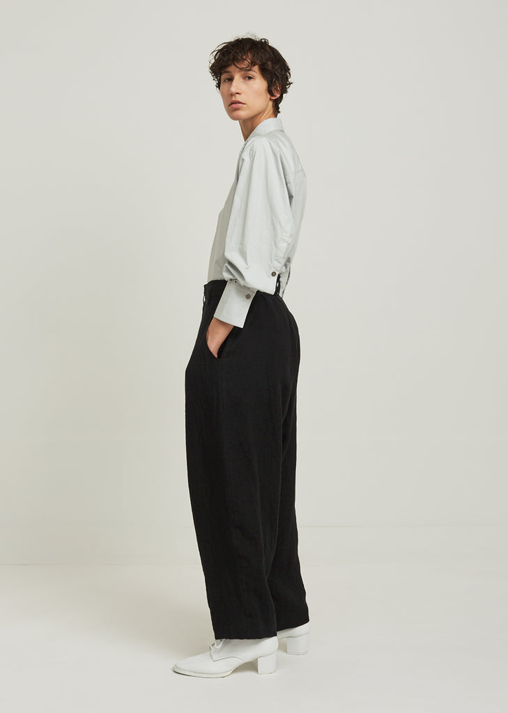 Sulfurated Belted Linen Pant