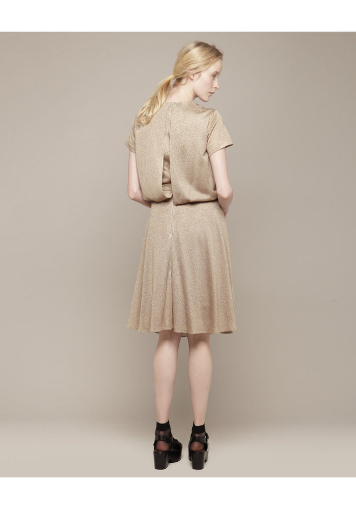 Lurex Blouson Dress