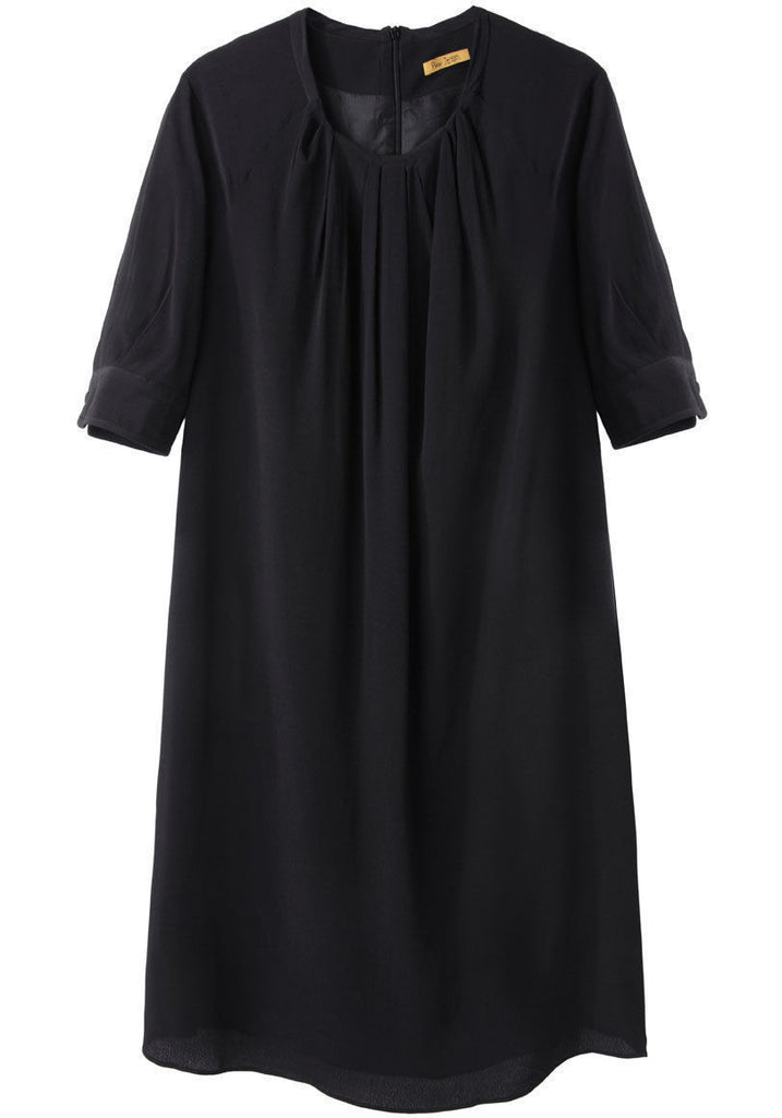 Pleated Neck Dress