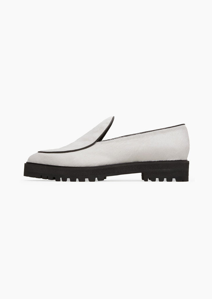 Calf Hair Pointy Toe Loafer