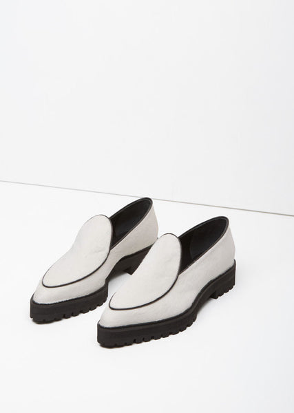 Proenza Schouler Calf Hair Pointy Toe Loafer La Garconne