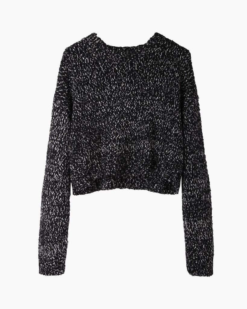 Cropped Marled Knit
