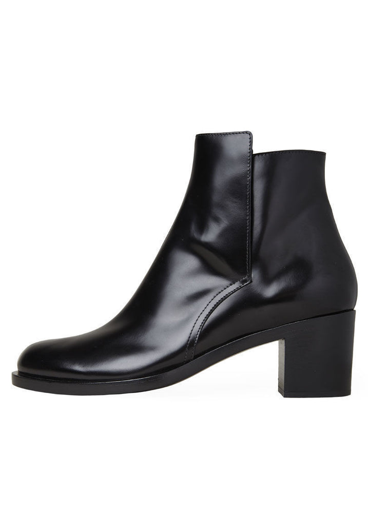 Glossed Ankle Boot