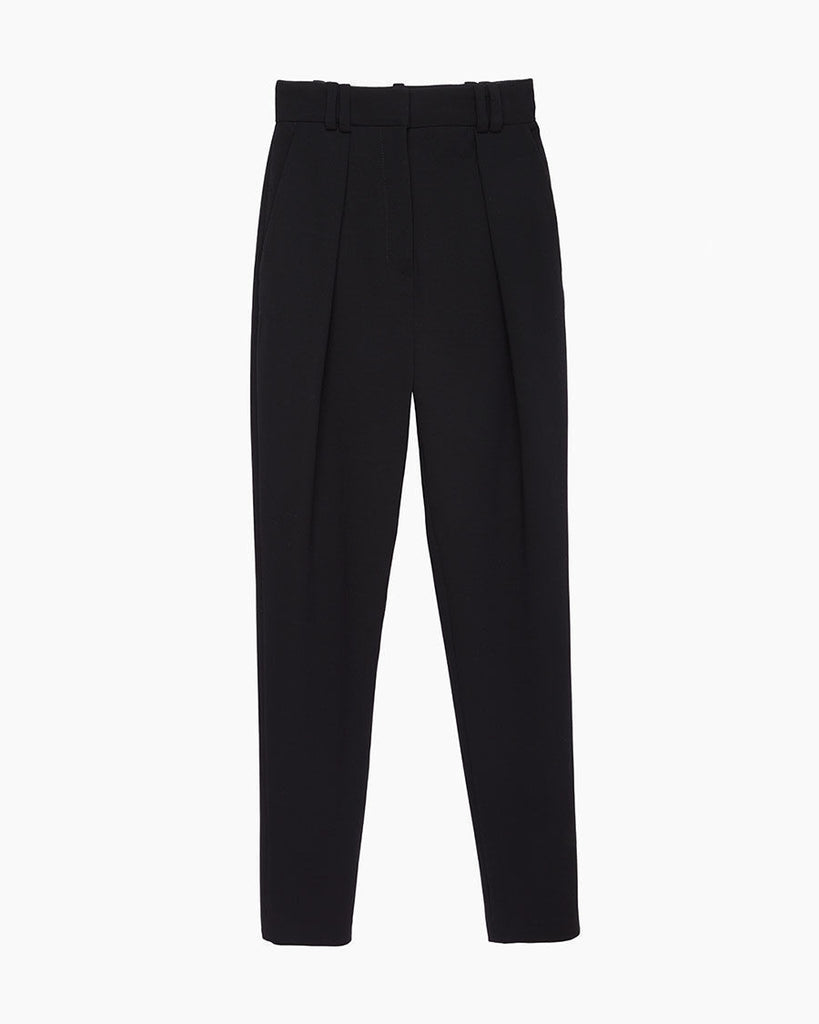 High-Waisted Wool Pant
