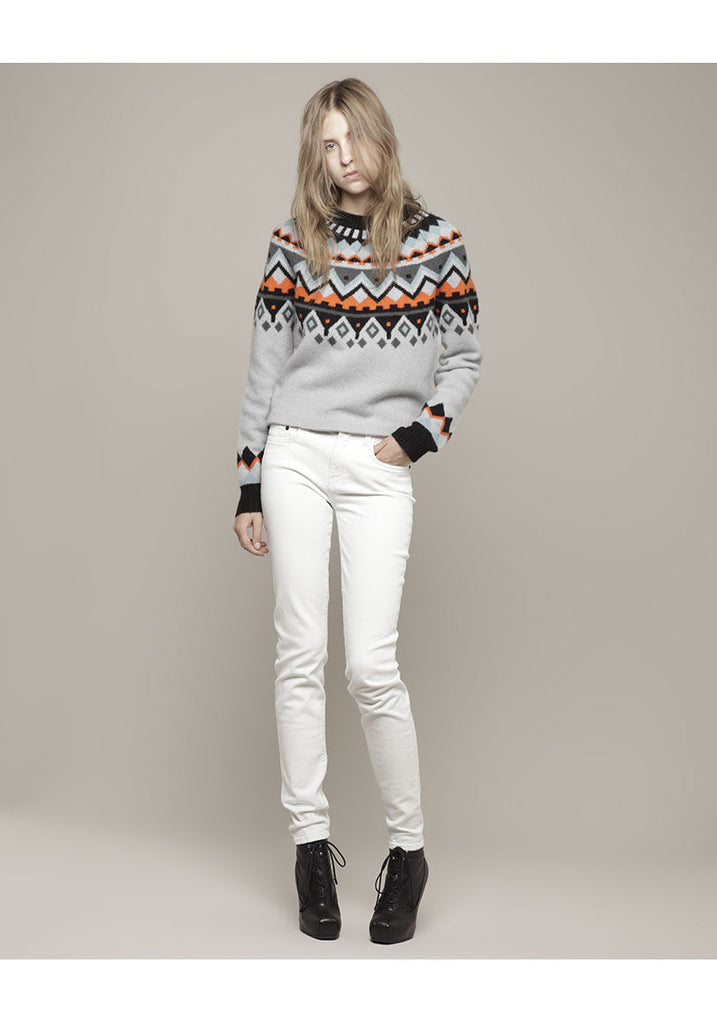 Intarsia Long Sleeve Pullover