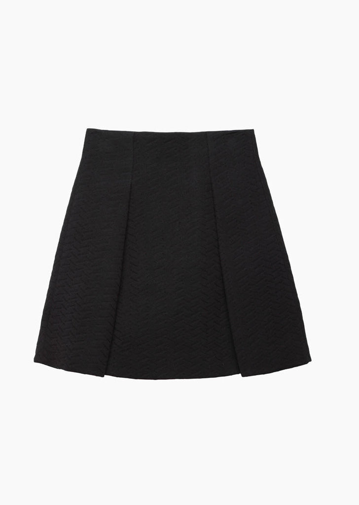 Jersey Topstitched Skirt