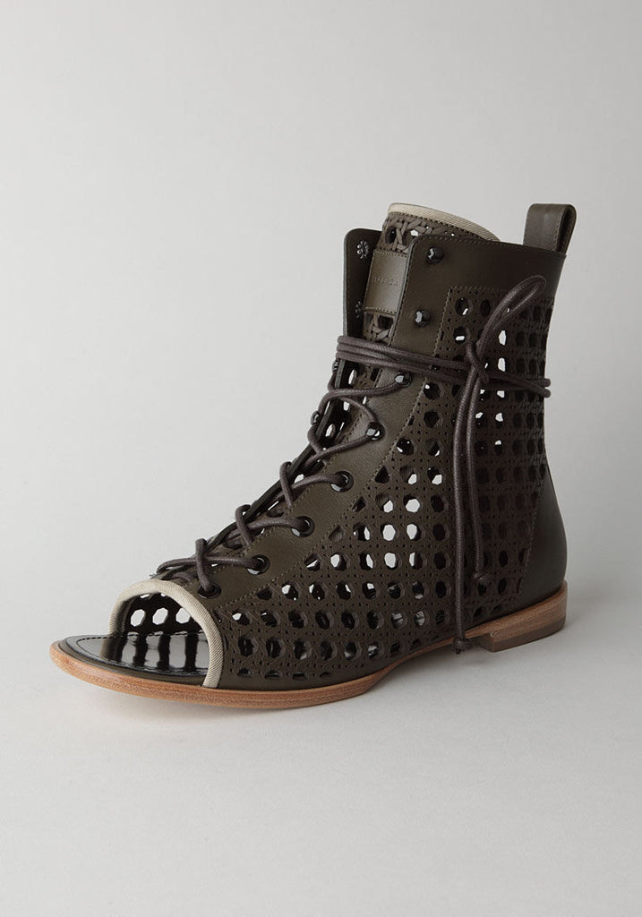 Open Toe Lattice Boot