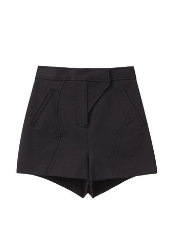 Seamed High Waist Short