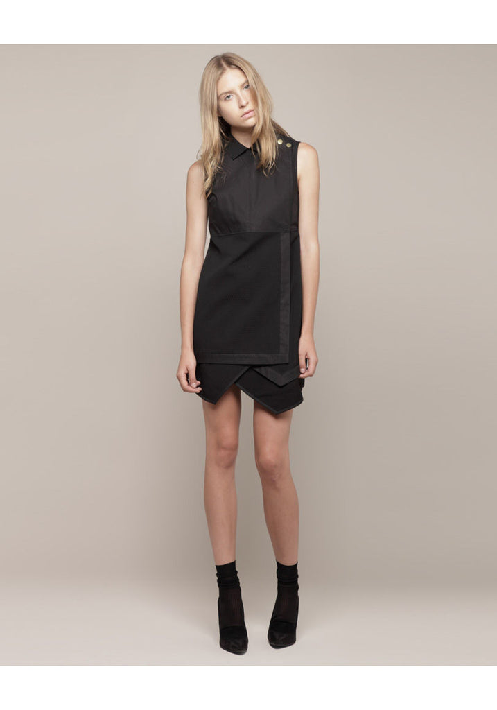 Sleeveless Asymmetrical Shirtdress