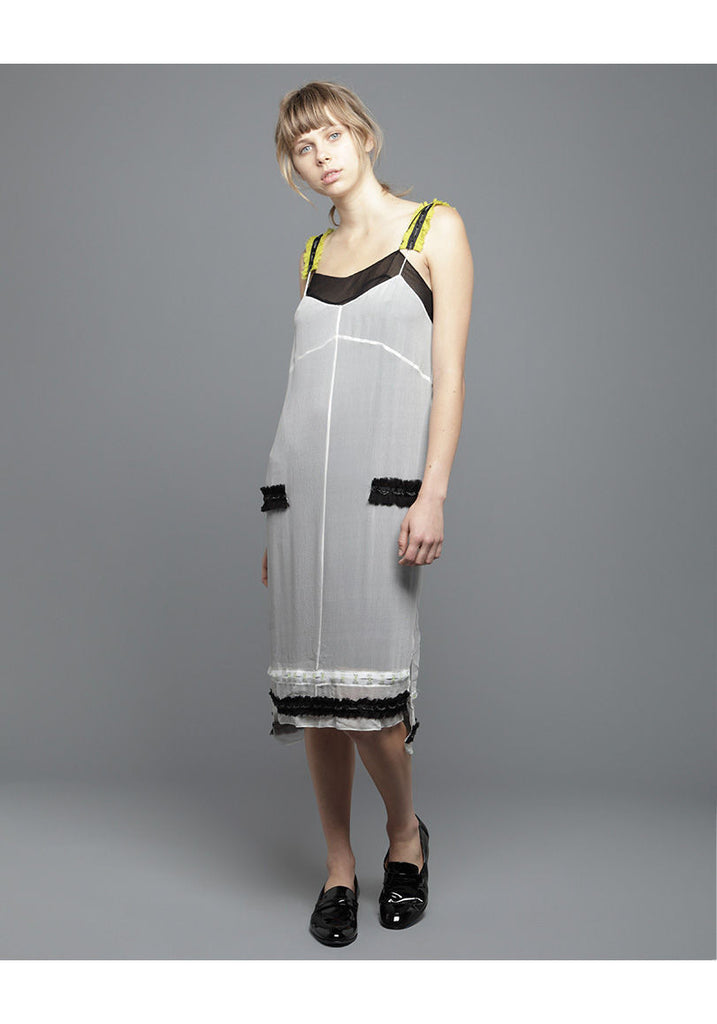 Slip Dress w/ Chain Appliques