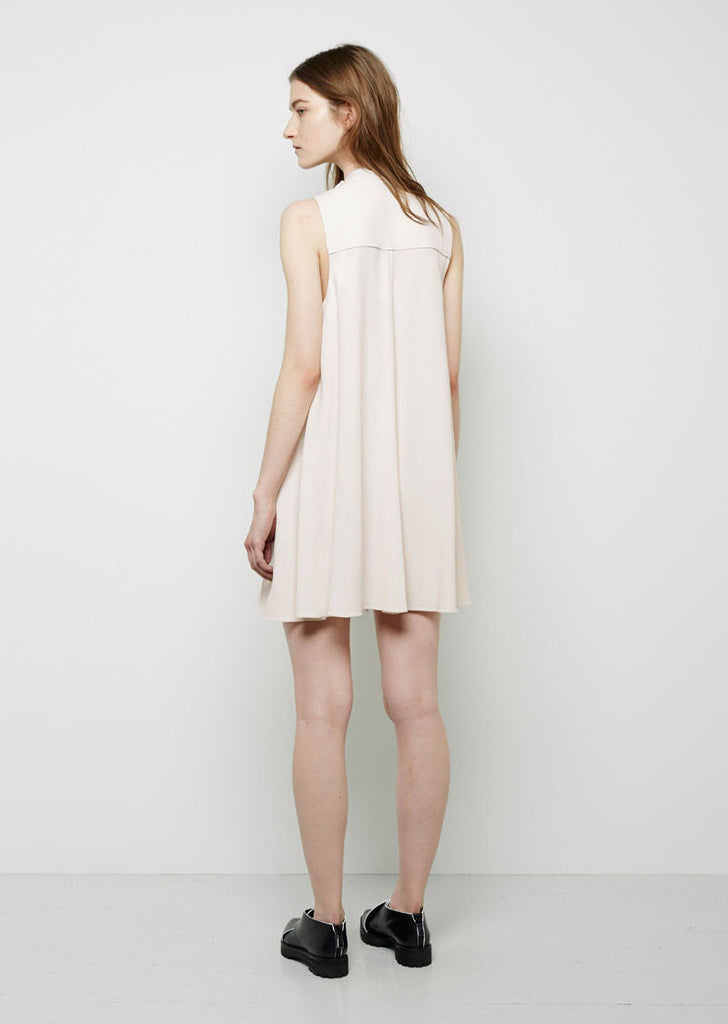 Snap Front Flared Dress