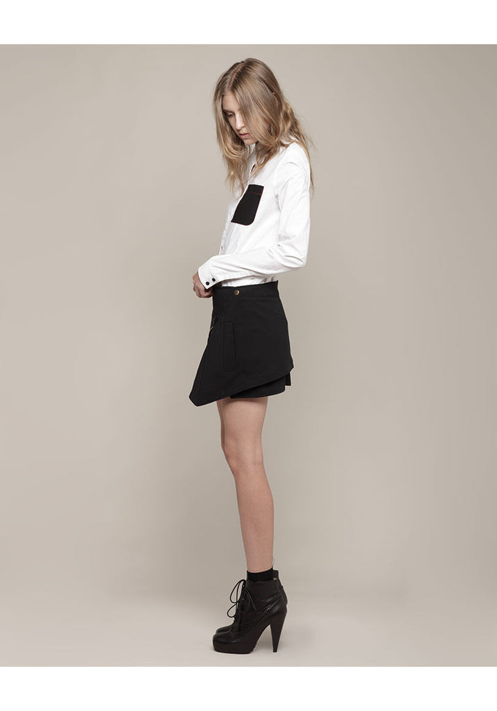 Wrap Layer Mini Skirt
