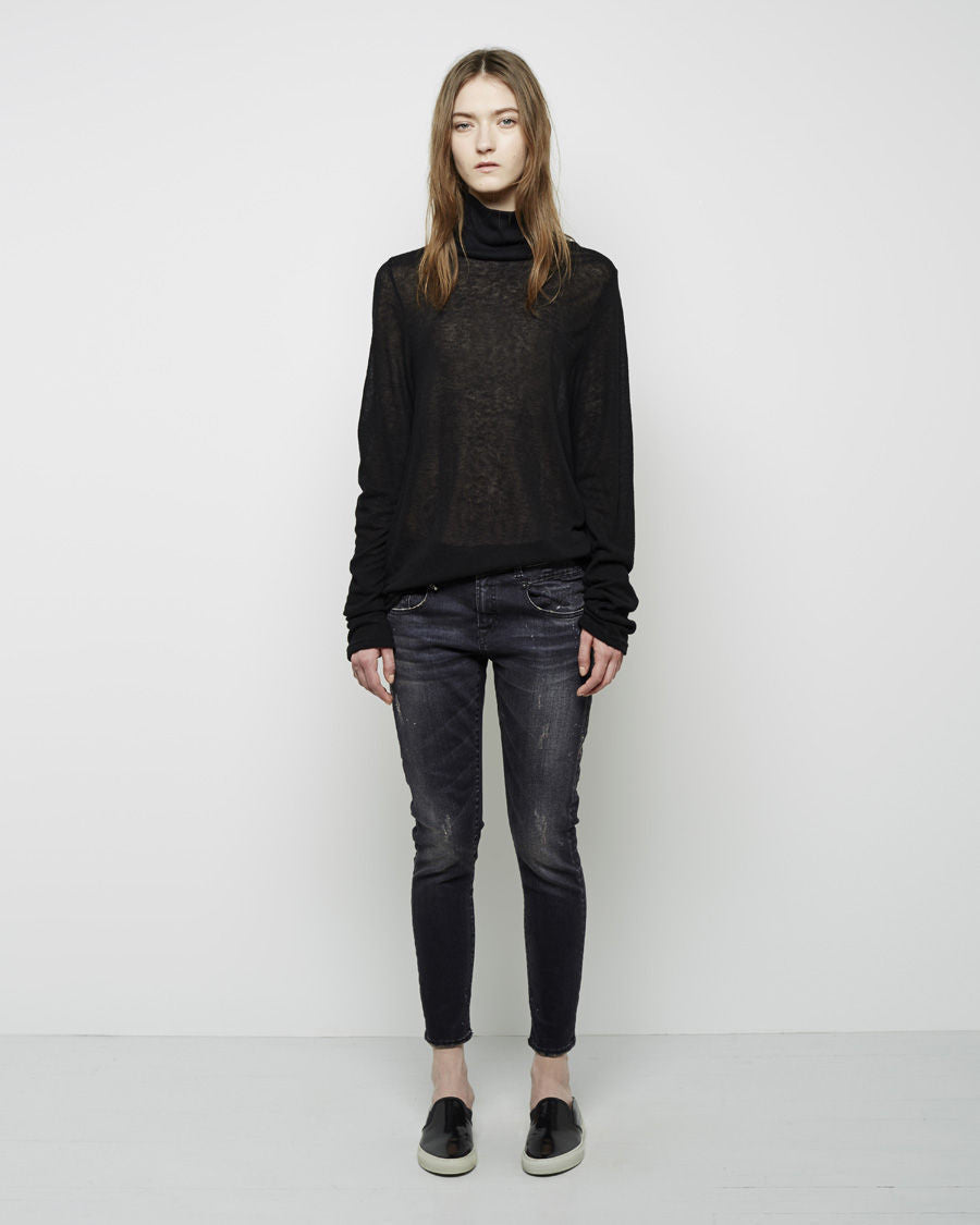 Cashmere Rib Turtleneck