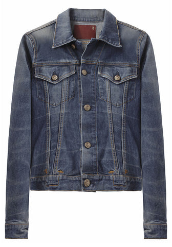 Classic Distressed Jean Jacket - RETURNED TO VENDOR