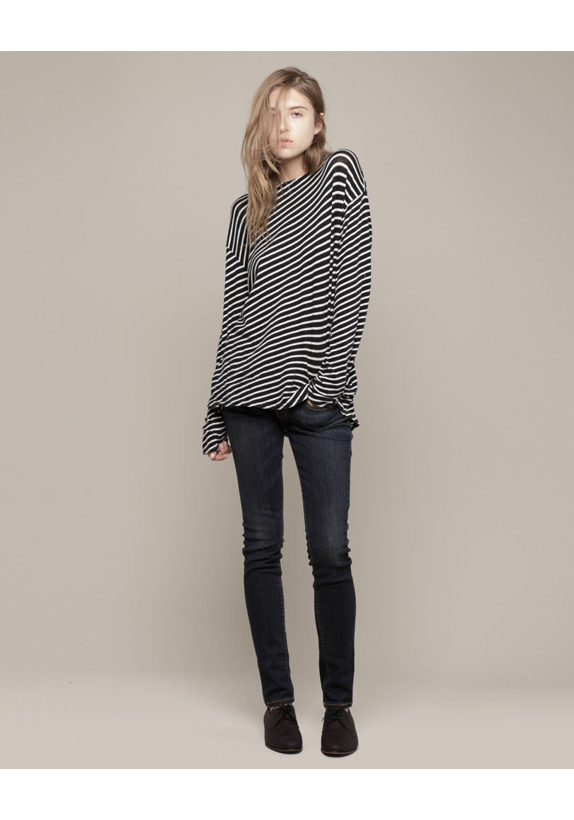 Diagonal Striped Tee