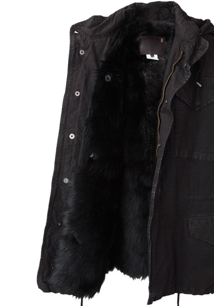 Shearling Military Vest