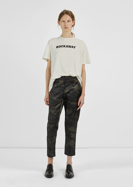Camo Cropped Trousers