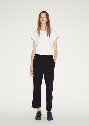 Front Pleat Crop Trouser