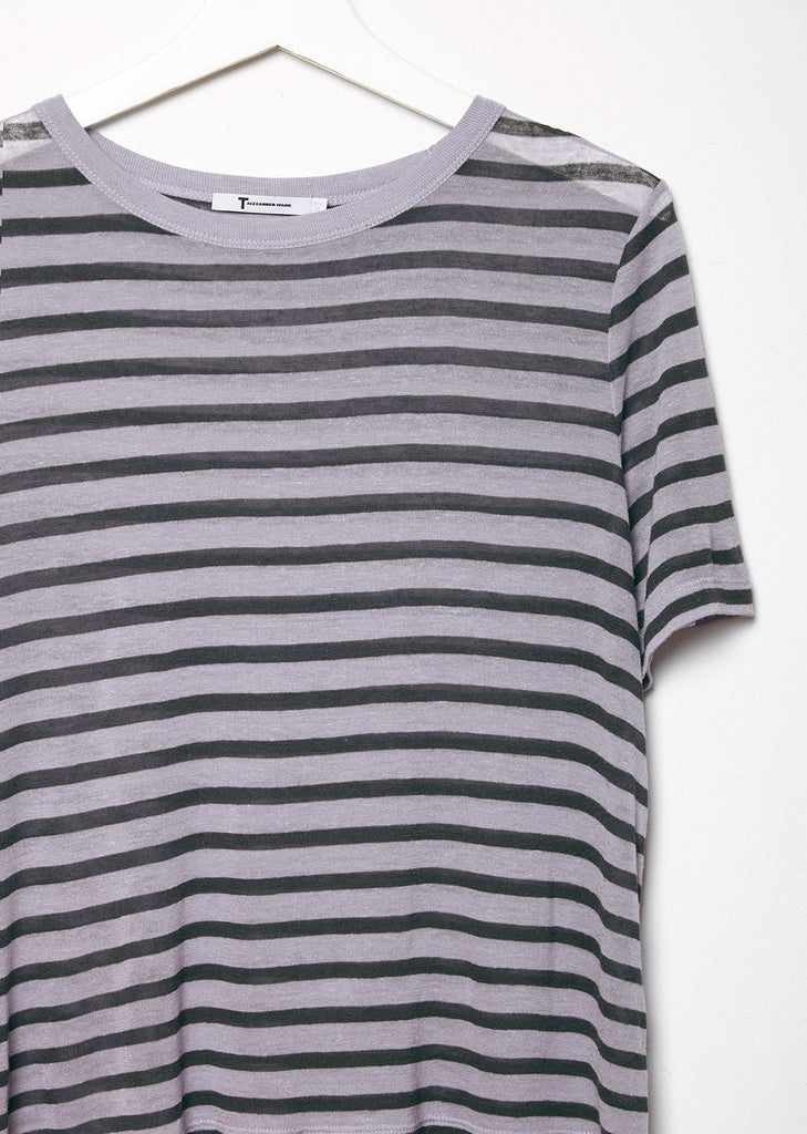 Cropped Stripe Tee