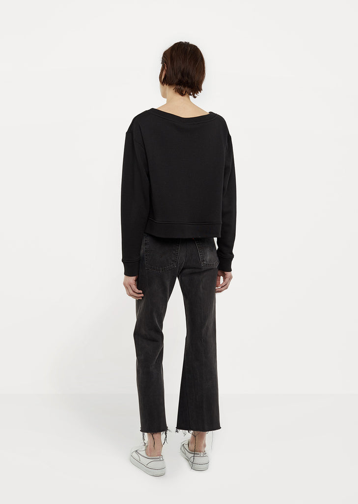 French Terry Cropped Sweatshirt