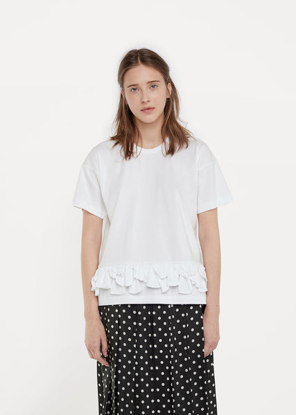 Ruffled Petal Cotton Tee