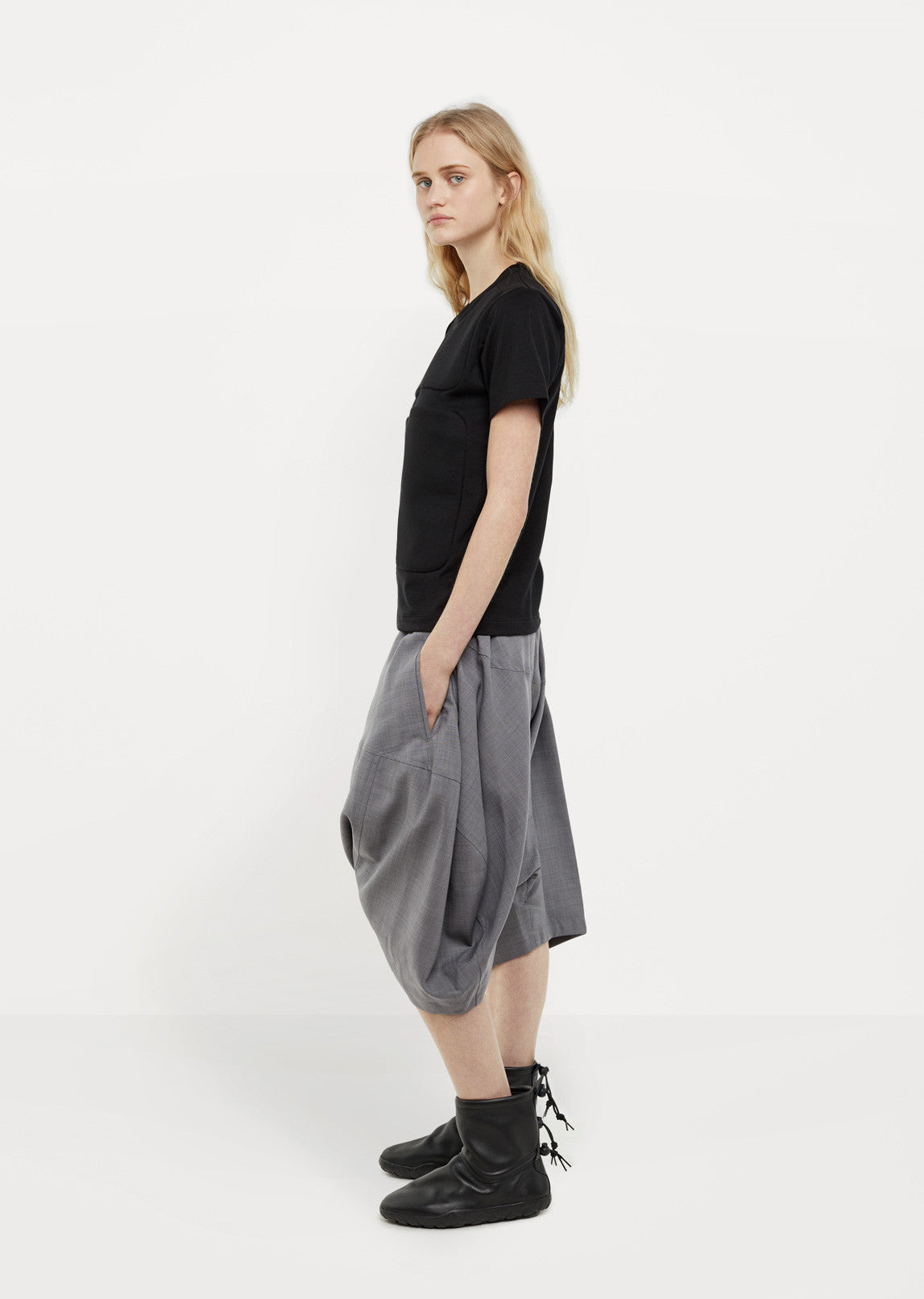 Wool Pull-On Trousers