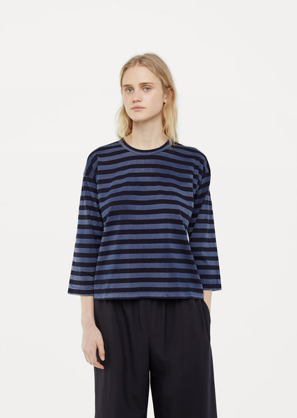 Striped Garment Treated Tee