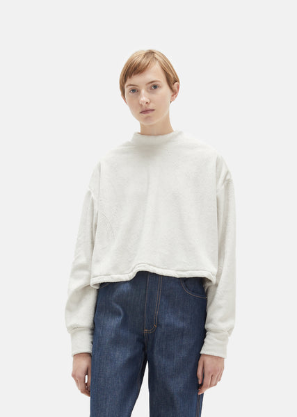 Cropped Pillow Sweatshirt
