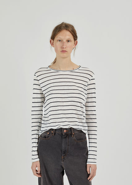 Aaron Striped Linen T-Shirt