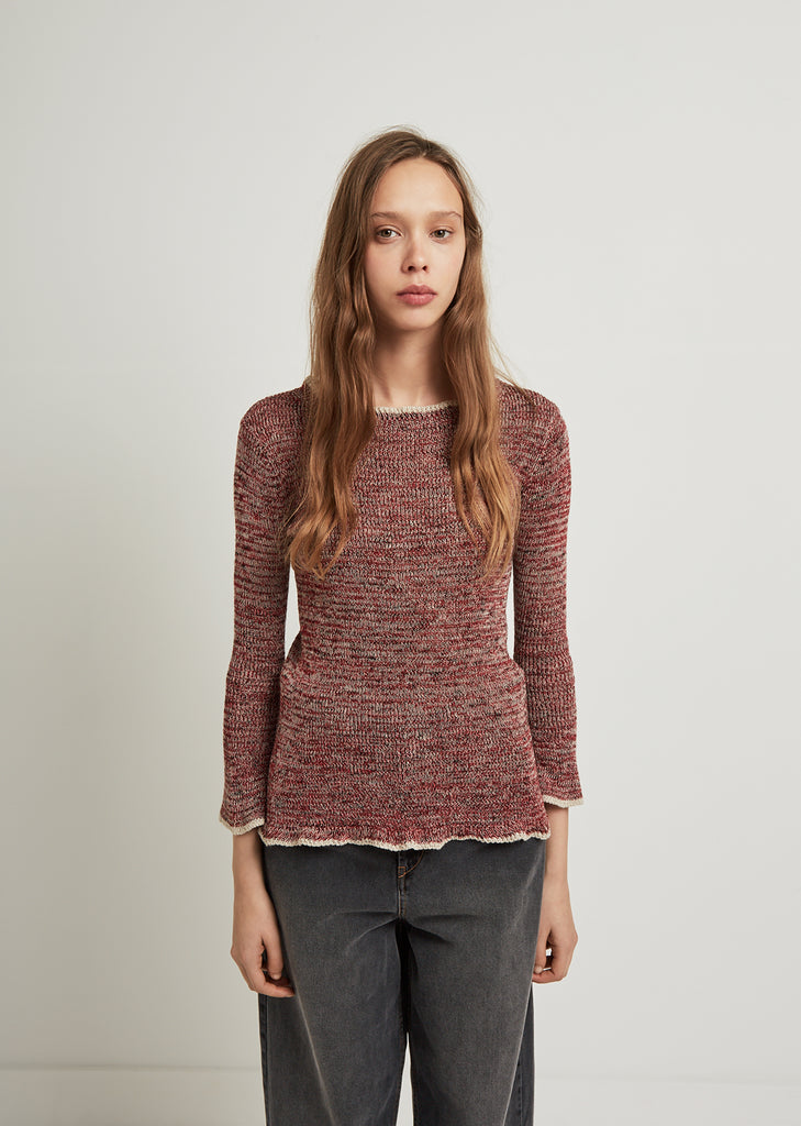 Barett Ribbed Linen Sweater