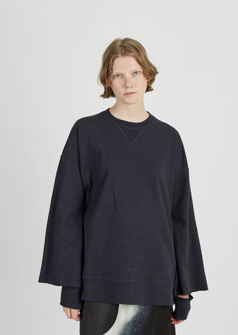 Oversized Cotton Fleece Sweatshirt