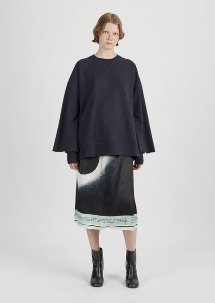 Viscose Printed Eclipse Skirt