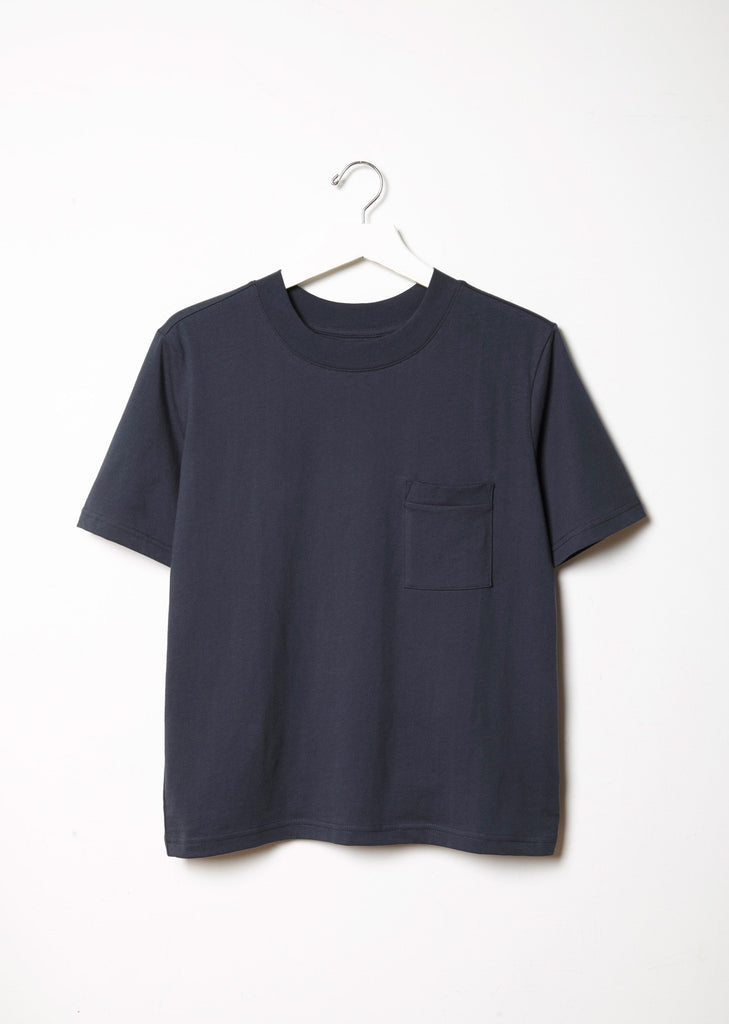 One Pocket Mock Neck Tee