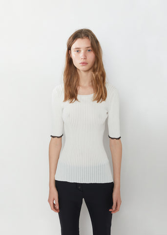 Lightweight Viscose Rib Sweater