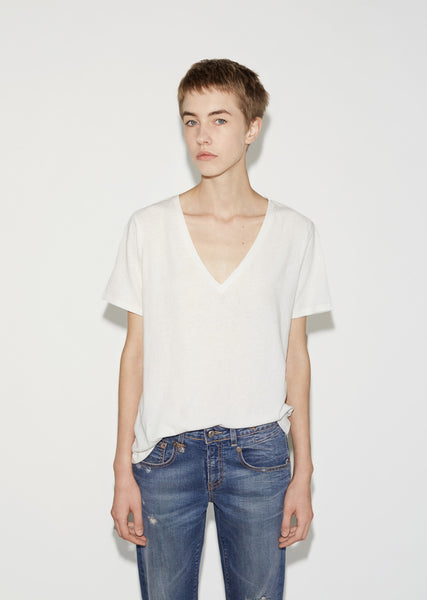 Low V-Neck Tee