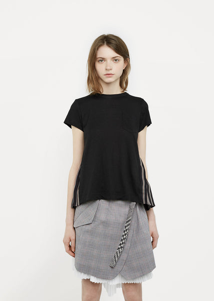 Contrast Back Stripe T-Shirt