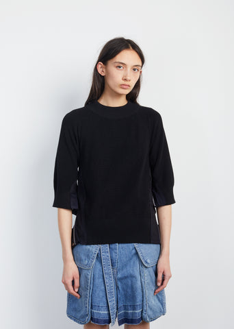 Cotton Knit Sweatshirt