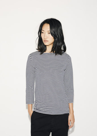 Boat Neck Stripe Tee