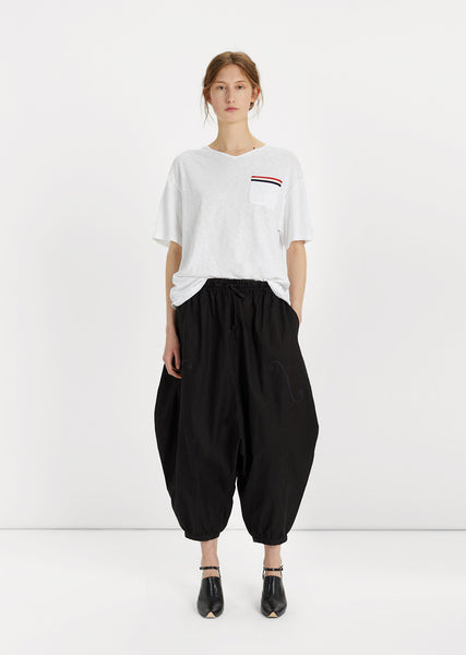 Cropped Jodhpur Cotton Pants
